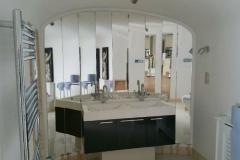 Shaped mirror - bathroom